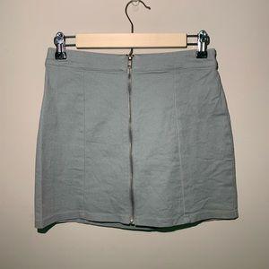 Light pastel blue denim skirt